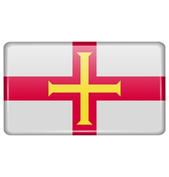 Flags Guernsey in the form of a magnet on vector