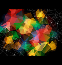 Geometric coloful dark polygonal background vector
