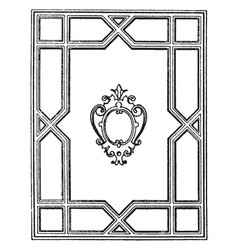 Geometric frame looks ancient window frame design vector