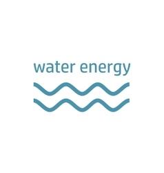 Green energy logo wind stream vector