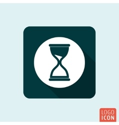 Hourglass icon isolated vector image