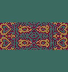 ikat ornament ethnic seamless pattern vector image