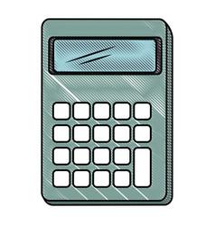 Isolated desk calculator vector
