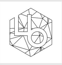 lb geometric triangle block chain font vector image