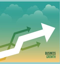 leading arrow growth business concept background vector image