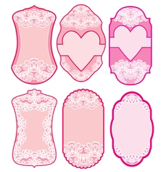 love labels lace 380 vector image