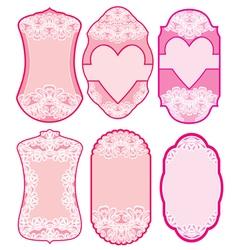 love labels lace 380 vector image