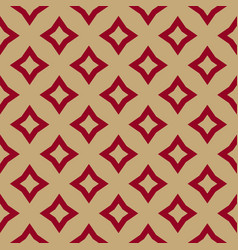 luxury red and gold geometric seamless pattern vector image