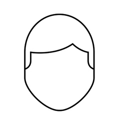 Man male avatar line icon vector