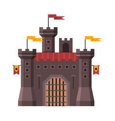 medieval stone fortress fairytale castle ancient vector image