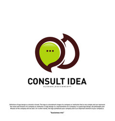 Modern business consulting agency logo design vector