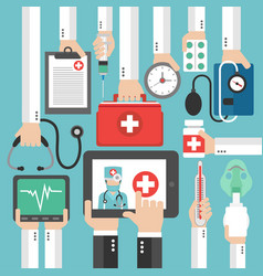 online medical diagnostics concept design flat vector image
