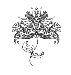 Paisley ornate floral design element vector image