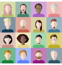People icons Set of stylish flat people icons on vector image