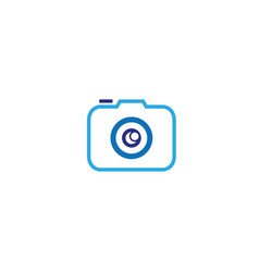 photographe an old style camera logo design vector image