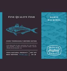 Premium quality horse mackerel abstract vector