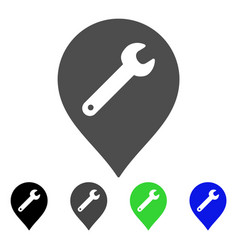 Repair marker flat icon vector