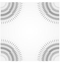 Retro Sun burst shapes vector image