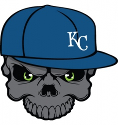 royals skull vector image vector image