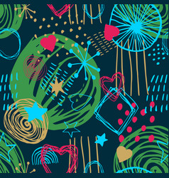 seamless pattern simple scandinavian style vector image