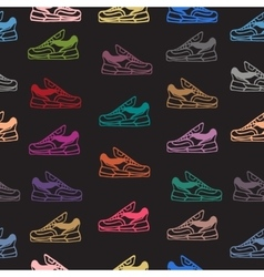 Seamless pattern with sneakers shoes vector image