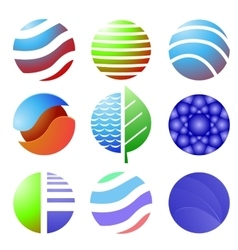 Set of Colored Icons Isolated vector image