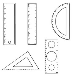 set of ruler vector image