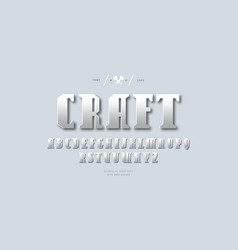 silver colored and metal chrome serif font vector image