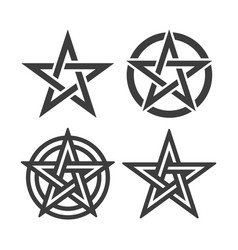 star of pentacle symbols image vector image