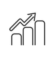 statistics chart finance bank money icon thick vector image