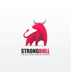 strong bull template vector image