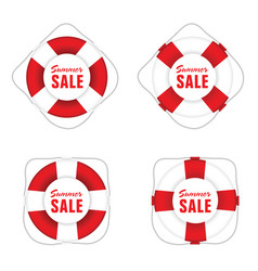summer sale in live saver vector image