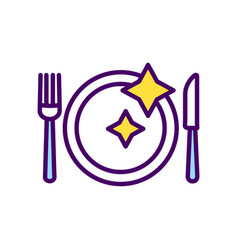 table setting rgb color icon vector image