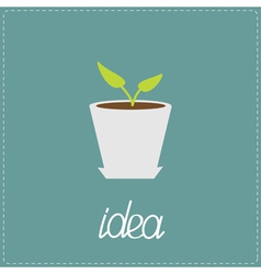 The plant grows in a pot Idea concept vector image