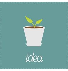 The plant grows in a pot Idea concept vector