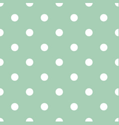 Tile pattern with white dots on mint background vector