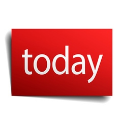 today red paper sign on white background vector image