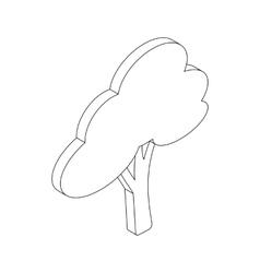 Tree icon isometric 3d style vector