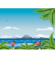 Tropical island in the ocean3 vector