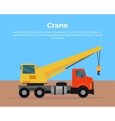 Truck Crane Banner Flat Design vector image