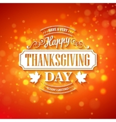 Typography design thanksgiving blurred vector