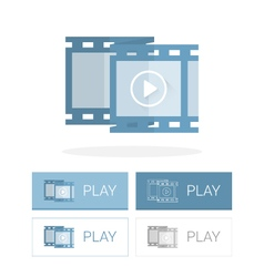 Video frame icon flat vector image