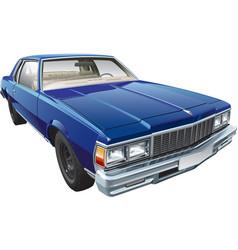 Vintage american hardtop coupe vector