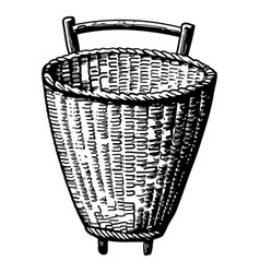 Vintage engraving a basket vector