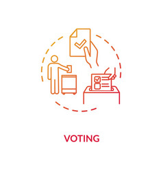 Voting concept icon vector