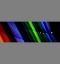 wave fluid flowing colors motion effect vector image