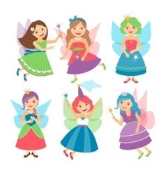 Little fairy girls vector image