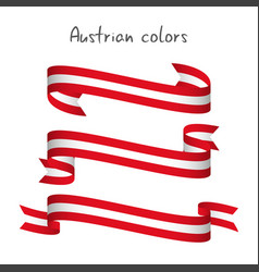 set of three ribbons with the austrian colors vector image vector image