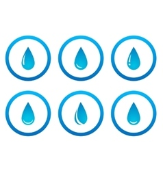 water drops in frame set vector image vector image