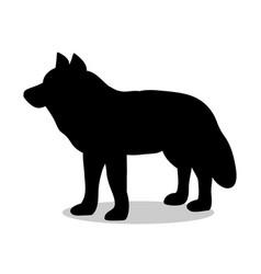 wolf predator black silhouette animal vector image vector image